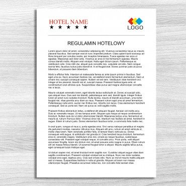 Regulamin, informator hotelowy A4