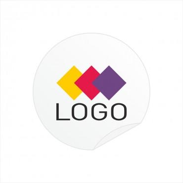 Naklejki z logo do kart rabatowych