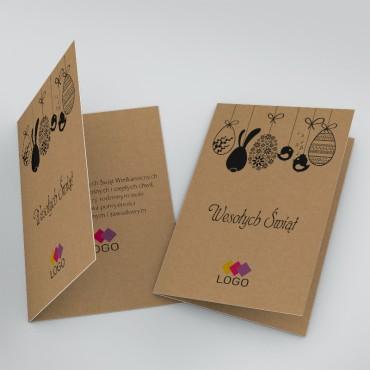 Kartki świąteczne biznesowe na wielkanoc - okładka i wnętrze