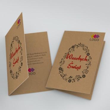 Kartki świąteczne biznesowe na wielkanoc - okładka + wnętrze