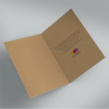 Kartki świąteczne biznesowe na wielkanoc - wnętrze z logo pod życzeniami.