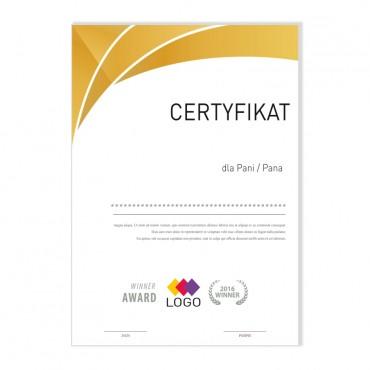 Certyfikat - projekt 02