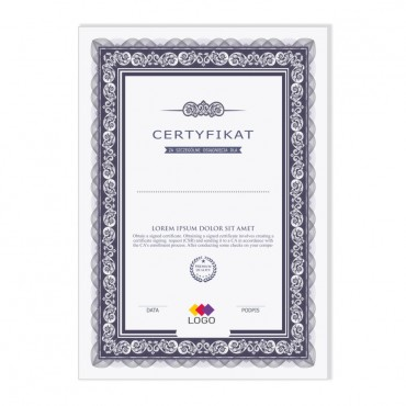 Certyfikat - projekt 08