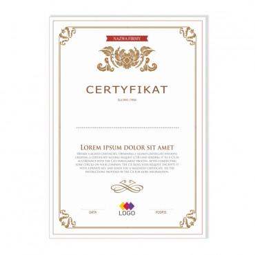 Certyfikat - projekt 09