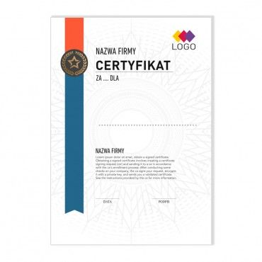 Certyfikat - projekt 11