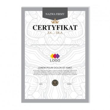 Certyfikat - projekt 12