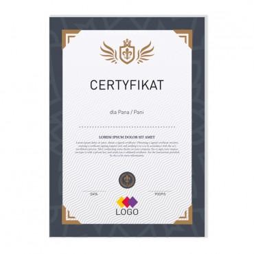 Certyfikat - projekt 14