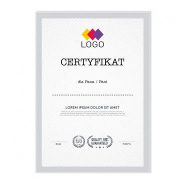 Certyfikat - projekt 15