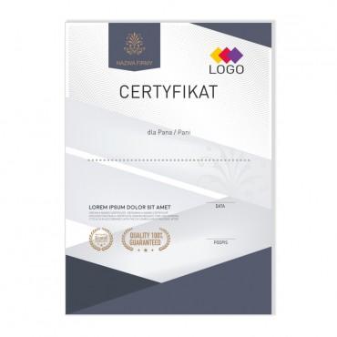 Certyfikat - projekt 22