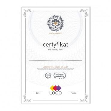 Certyfikat - projekt 23