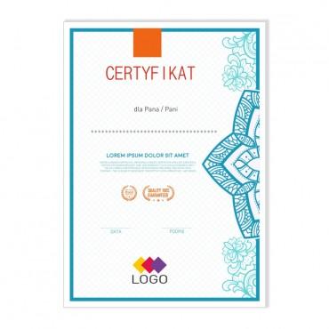 Certyfikat - projekt 24