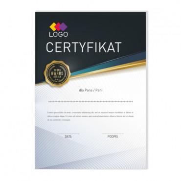 Certyfikat - projekt 26