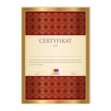 Certyfikat - projekt 28