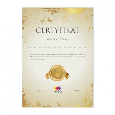 Certyfikat - projekt 33
