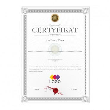Certyfikat - projekt 35