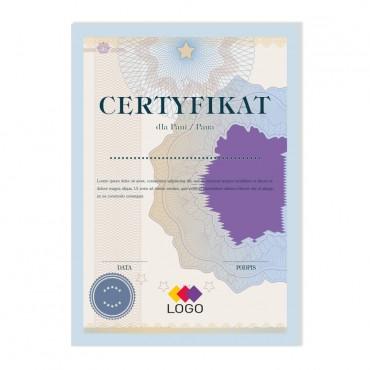 Certyfikat - projekt 37