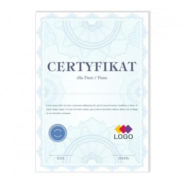 Certyfikat - projekt 39