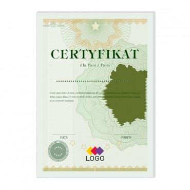 Certyfikat - projekt 40