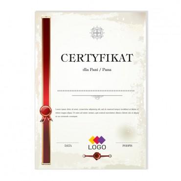 Certyfikat - projekt 43