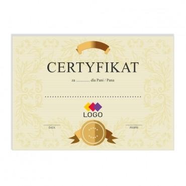 Certyfikat - projekt 46