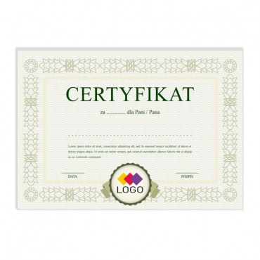 Certyfikat - projekt 47