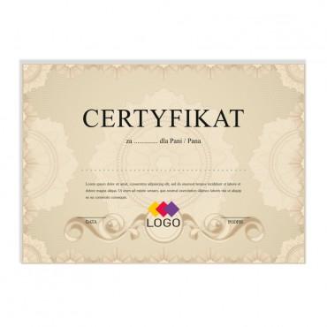 Certyfikat - projekt 49