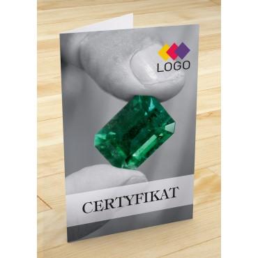 Certyfikat jubilerski - projekt 20