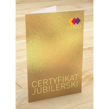 Certyfikat jubilerski - projekt 29
